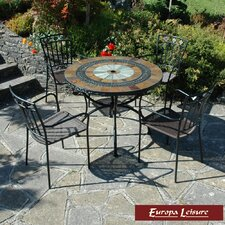 <strong>Europa Leisure</strong> Alcira 5 Piece Dining Set with Malaga Chairs