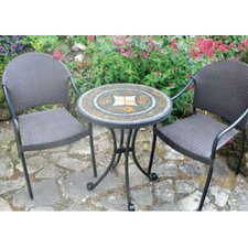 Torello 3 Piece Round Standard Dining Set with San Tropez Chair