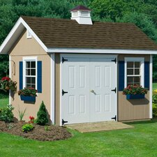 Studio 10' W x 16' D Wood Garden Shed