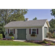 24' W x 14' D Keystone Wood Garage Shed