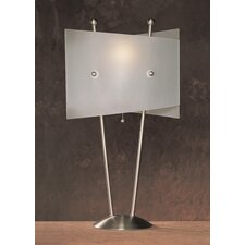 "Metal 25.5"" H Table Lamp with Rectangular Shade"