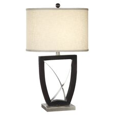 "Metal 28.5"" H Table Lamp with Drum Shade"