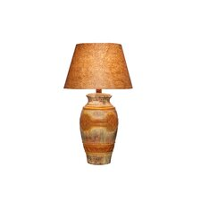 "28.5"" Table Lamp with Petro-glyphic Rainbow Design"