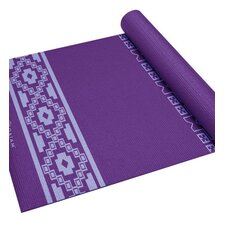 "<strong>Gaiam</strong> 0.20"" Premium Taos Alignment Printed Yoga Mat"