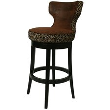 "Augusta 30"" Barstool in Wrangler with Leopard"