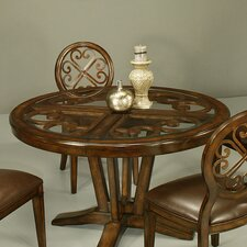 Devon Coast Round Wood Table Top with Glass Insert