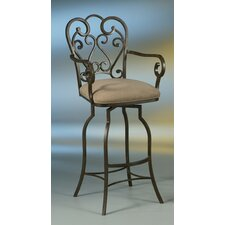 "Magnolia 34"" Swivel Bar Stool with Cushion"