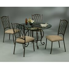 <strong>Pastel Furniture</strong> Atrium Elegant 5 Piece Dining Set