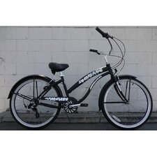 "Ladies 26"" 7-Speed Shimano Premium Extended Deluxe Beach Cruiser"