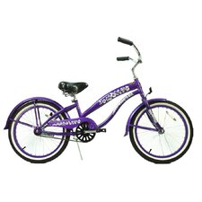 "Girl's 20"" Single Speed Beach Cruiser Bike"