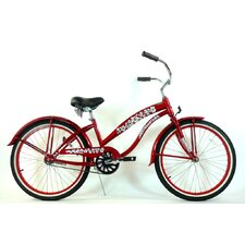 "Girl's 24"" Single Speed Beach Cruiser Bike"