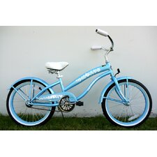 "Ladies 20"" Single Speed Beach Cruiser Bike"