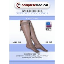 <strong>Complete Medical</strong> Ladies' Sheer Medium Support Knee High Stockings