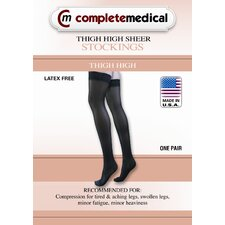 <strong>Complete Medical</strong> Ladies' Moderate Support Thigh High Sheer Pantyhose