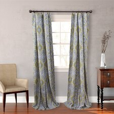 Milan Gray Cotton Lined Window Panels (Set of 2)