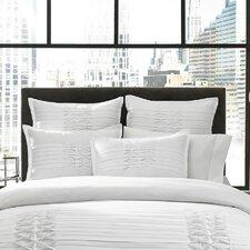 Triple Diamond Comforter Set in White
