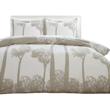 Tree Top Duvet Cover Set in Beige