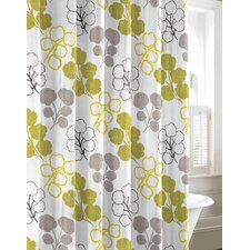 Pressed Flower Cotton Shower Curtain