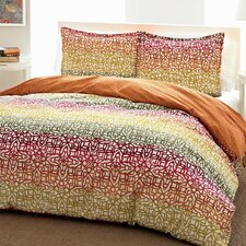 Fiesta Stripe Comforter Set in Orange