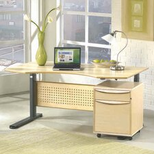 "Jesper Office Motorized Standing Desk in Wood 47"" Top"