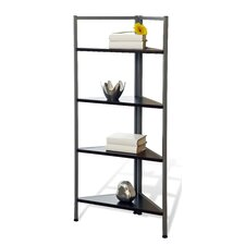 Tribeca 216 Corner Bookcase with 4 Shelves