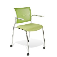 Mesh Stackable Guest and Conference Chair with Castors