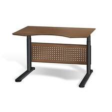 "Motorized Standing Desk in Wood 47"" Top"