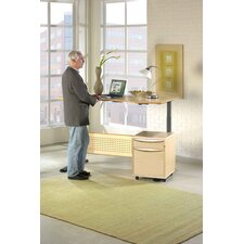 "Motorized Standing Desk in Wood 63"" Top"