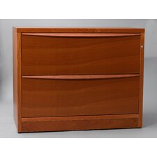 Jesper Office 390502 Lateral File Cabinet with Two Drawers in Wood