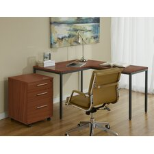 Parson Writing Desk with File Cabinet