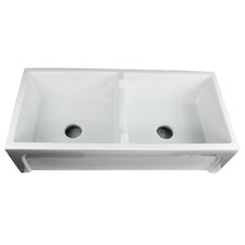 "Cape 39.5"" x 18"" Hyannis Double Bowl Kitchen Sink"