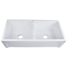 "Cape 39.5"" x 18"" Chatham Double Bowl Kitchen Sink"