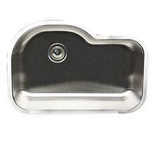 "31.5"" x 21"" New Moby Single Bowl Stainless Steel Kitchen Sink"