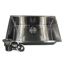 "30"" x 18"" Small Radius Stainless Steel Kitchen Sink"