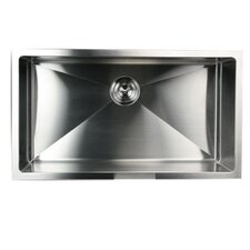 "32"" x 18"" Small Radius Stainless Steel Kitchen Sink"