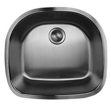 "23.63"" x 21"" Single Bowl Stainless Steel Kitchen Sink"