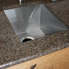 "16.5"" x 13"" Zero Radius Single Bowl Undermount Bar  Sink"