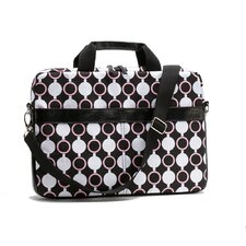 Kailo Chic Circles Slim Mod Laptop Briefcase