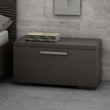 Sienna 1 Drawer Nightstand in Charcoal Grey