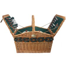 <strong>Sutherland Baskets</strong> Decadence Picnic Basket in Hunter Green Lining