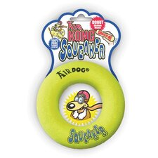 Air Squeaker Yellow Donut Dog Toy
