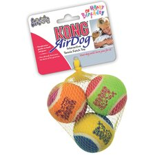 Air Squeaker Birthday Ball Dog Toy