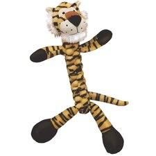 Braidz Tiger Plush Dog Toy