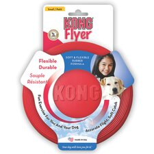 <strong>KONG</strong> Rubber Flyer Dog Toy in Red