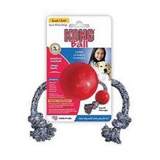 <strong>KONG</strong> Ball with Rope Dog Toy