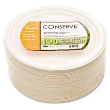 Conserve Sugar Cane Plate, 100/Pack