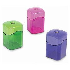 "Pencil Sharpener,w/ Receptacle,2-1/8"",Assorted"
