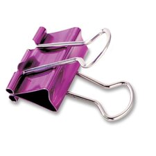 "Binder Clip, Medium, 1"", 5/PK, Metallic Assorted"