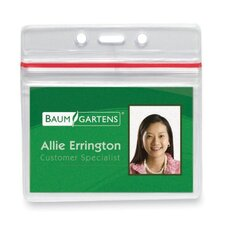 "<strong>Baumgartens</strong> Sealable Card Holders Horizontal 2-5/8""x3-3/4"",50/PK,Clear"
