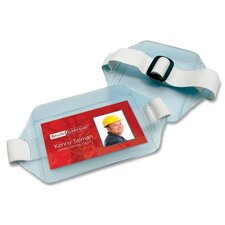 "Arm Badge Holder, Horizontal, 3-3/4""x2-3/4"", Clear"
